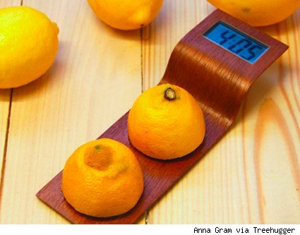 lemon powered desk clock