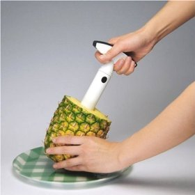Plunge the Vacu Vin into the Pineapple!