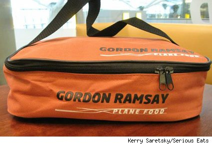 Gordon Ramsay Plane Food bag