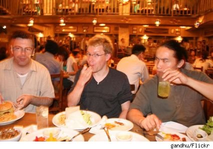 Americans Enjoying Eating Out