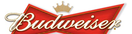 The Budweiser logo looms