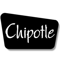 chipotle logo in black and white