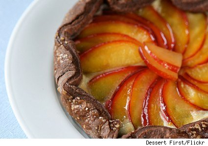 chocolate plum galette