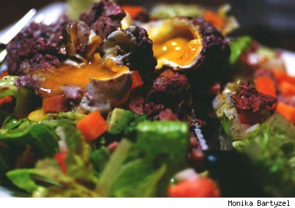 egg-topped salad