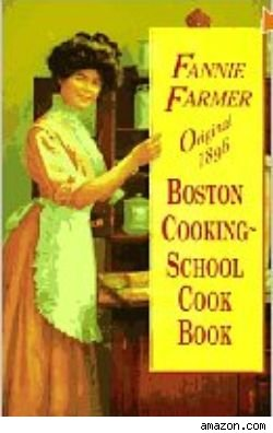 cover of an old Fannie Farmer Cookbook