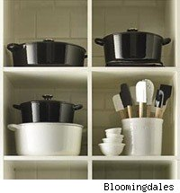 black and white Le Creuset
