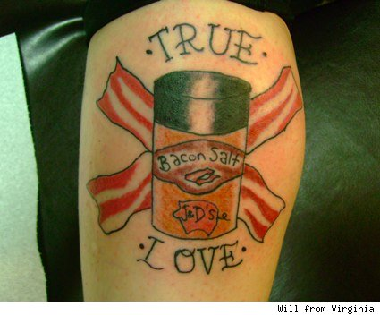 bacon salt love tattoo