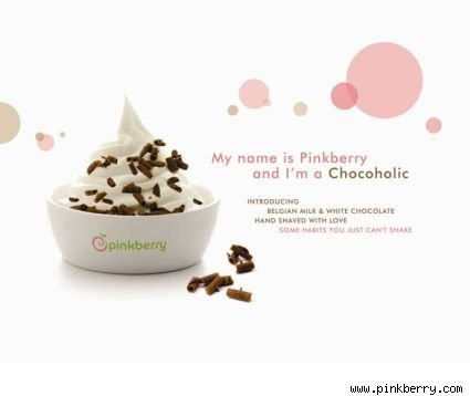 Pinkberry with Chocolate Shavings