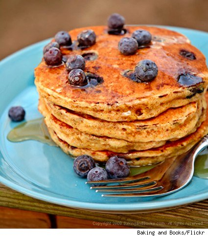 Whole Wheat Blueberry Buttermilk Pancakes - Feast Your Eyes