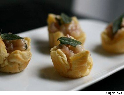 Sage and Caramelized Onion Risotto Cups