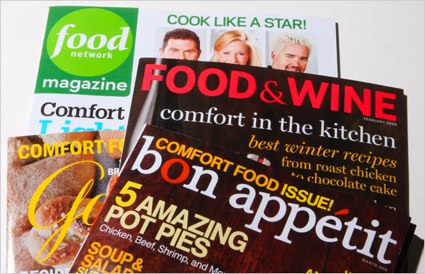 covers of recent food magazines