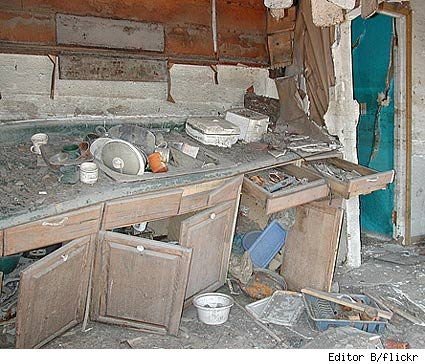 kitchen destroyed by hurricane katrina