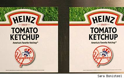 Yankees branded ketchup