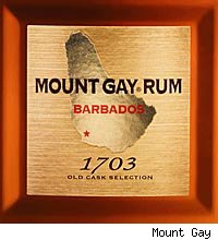 mount gay 1703 label