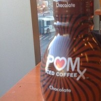 bottle of pom iced coffee