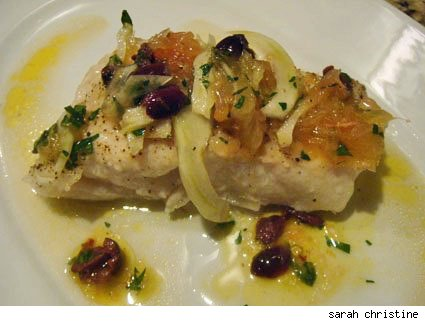 Roasted Halibut with Grapefruit Fennel Salsa
