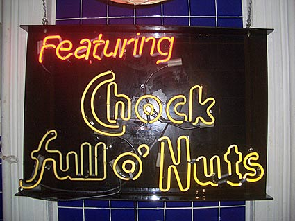 chock full o'nuts neon sign