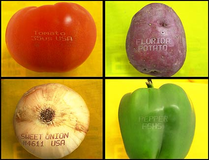laser-etched fruit