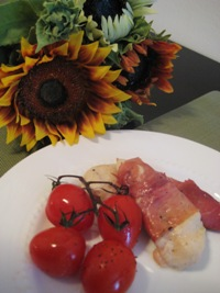 Chicken Saltimbocca and Roasted Tomatoes
