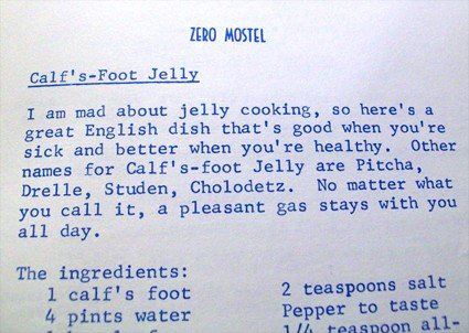 calf's foot jelly