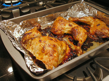 Oven-roasted Dijon-glazed Chicken
