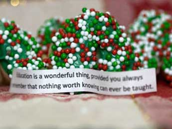 christmas fortune cookie
