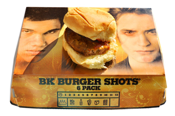 burger king twilight burger shots