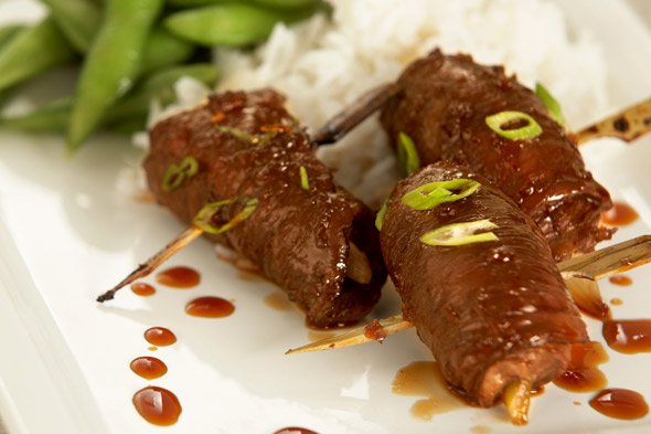 scallion beef rolls