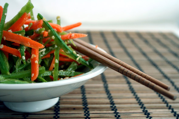 Asian Pea and Carrot Salad