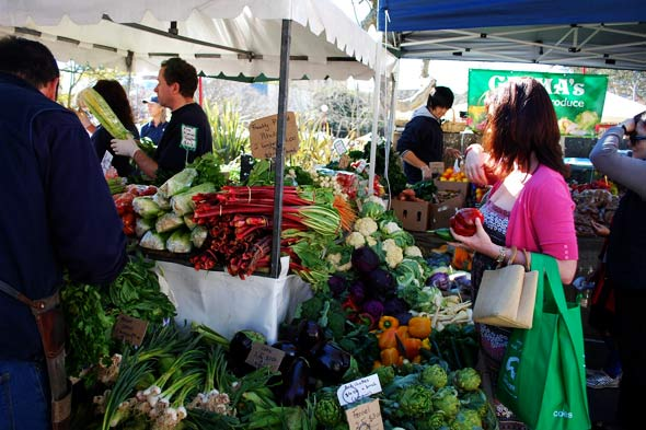 farmers market vegetables local produce