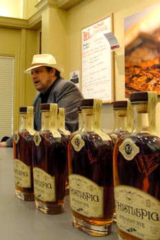 Dave Pickerell with Whistle Pig Rye bottles