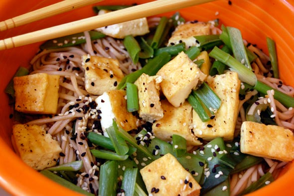 Soba and Tofu in Ginger Broth - Feast Your Eyes