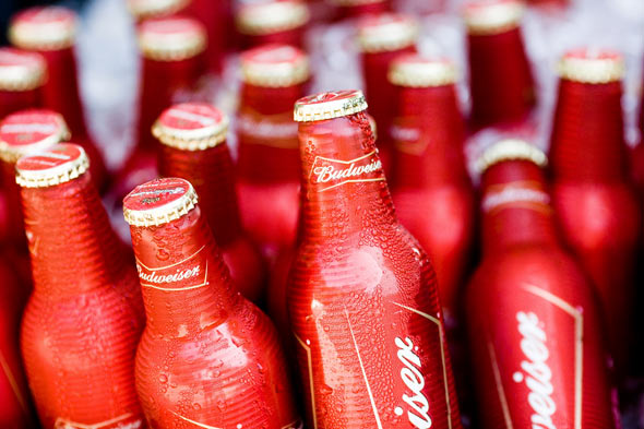 Bud beer bottles