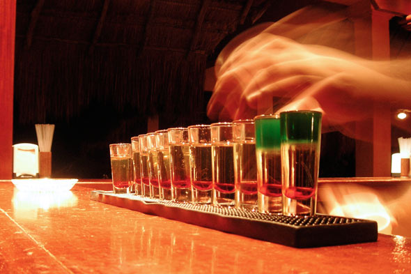 Mexican flag shots