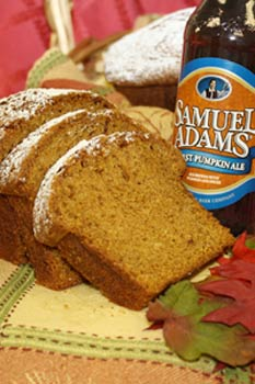 Sam Adams Pumpkin Bread