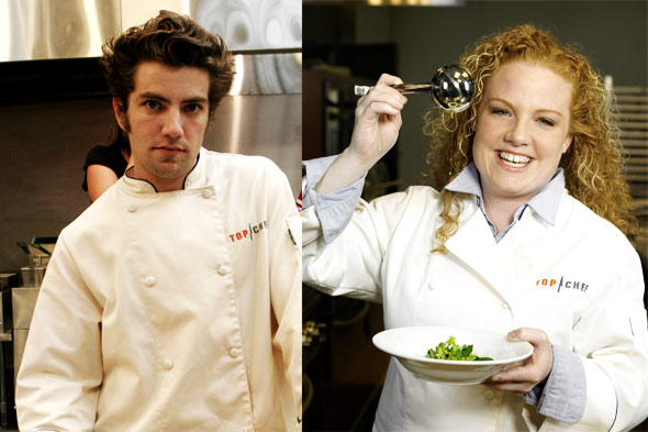 Top Chef contestants Marcel Vigneron and Tiffani Faison