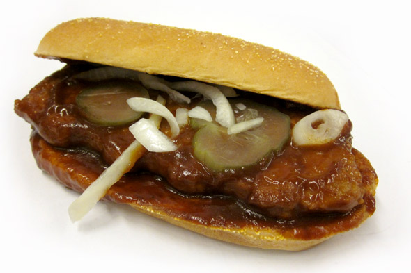 McDonald's McRib sandwich
