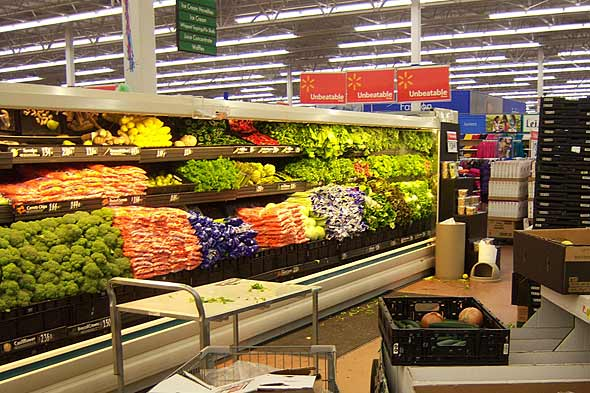 Wal-mart Produce Grocery Store