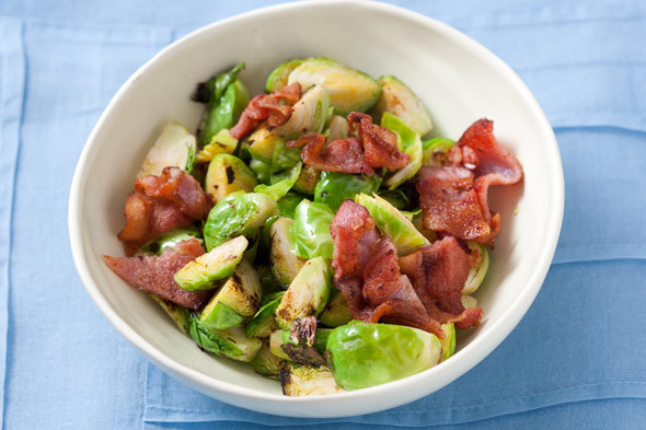 Bacon-Braised Brussels Sprouts -- Recipe of the Day