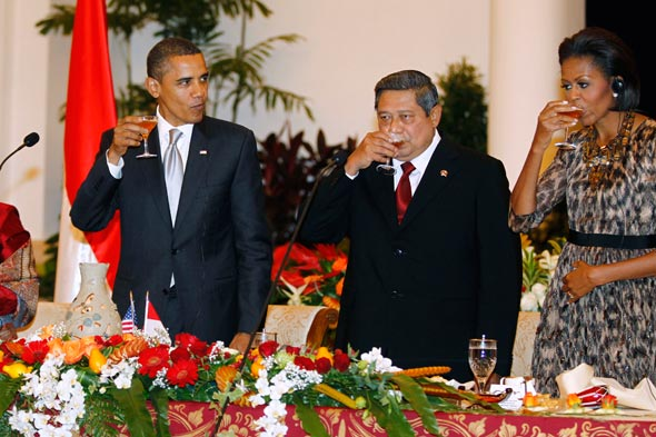 Barack Obama state dinner in Indonesia