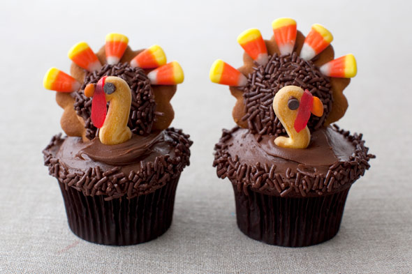 turkey cupcake decorating