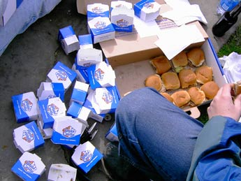 White Castle sliders for thanksgiving stuffing