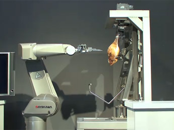 robot to debone a ham