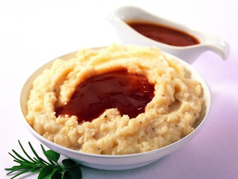 Boston Market mashed potatoes and gravy