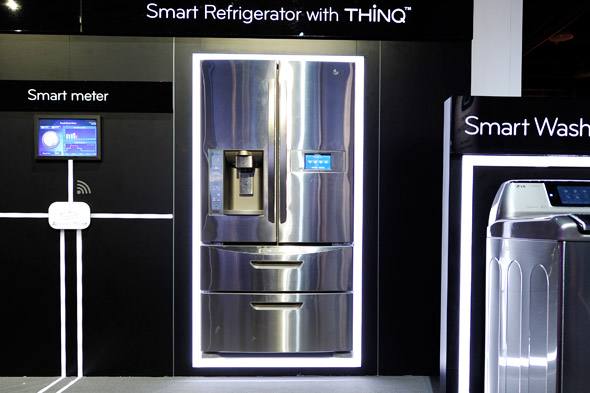 LG smart fridge from CES 2011