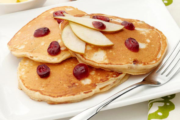Cranberry and Pear Pancakes recipe
