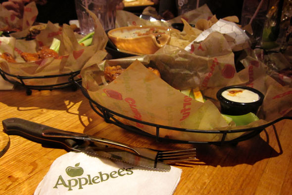 Applebee's appetizers Photo: Elizabeth Hait, AOL