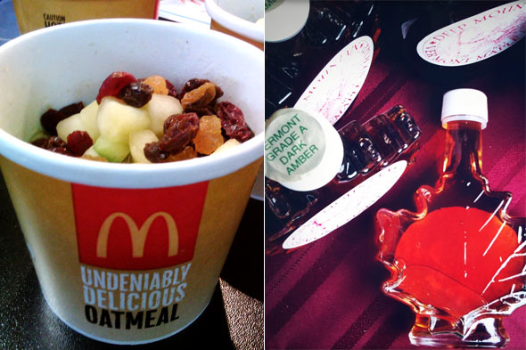 McDonald's oatmeal doesn't include maple syrup