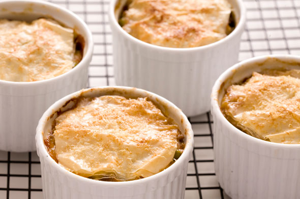 ground beef and vegetable pot pies