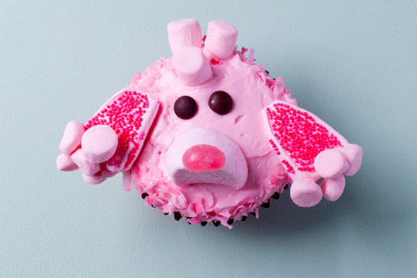 pink poodle cupcake decorating